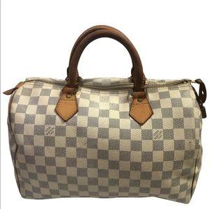 Louis Vuitton Damier Azur Speedy 30 Doctor Bag